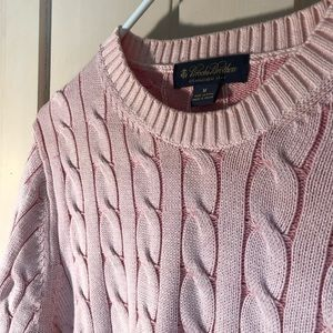 Brooks Brothers Cable Knit Sweater - Medium